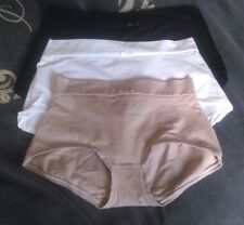 MARKS & SPENCER LIGHT CONTROL HI-RISE BRIEFS SHORTS WHITE BLACK MINK SIZE 8-22