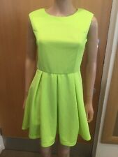 Glamorous Florescent Yellow Backless Dress - UK Ladies Size M