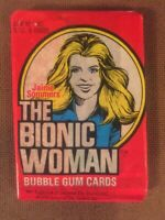 1976 DONRUSS THE BIONIC WOMAN TRADING CARD SEALED WAX PACK======ak