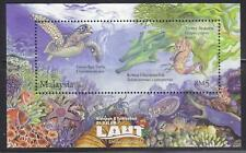 MALAYSIA 2012 UNDERWATER LIFE (TURTLE) MINIATURE SHEET 1 STAMP MINT UNUSED MNH