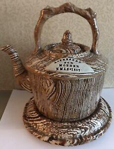 Rare Bargeware Measham Agateware Kettle & Stand 1897