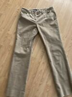 Brooks Brothers Tan Corduroy Stretch Straight Pants Womens Size 10