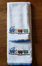Train Embroidery Towels 2 Piece Bath Towel Set Gift