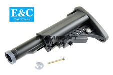 E&C MOD Crane Airsoft Stock With 5 Position Stock Pipe For M AEG Series EC-MP056