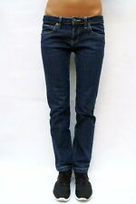 CK Calvin Klein Jeans Dark Blue Denim Low Waist Straight Leg Stretch (10/12) VGC