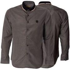 Camisas de vestir de hombre negras 100% algodón