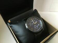 AKRIBOS Chronograph, Black with Blue Dial, 43mm, NEW