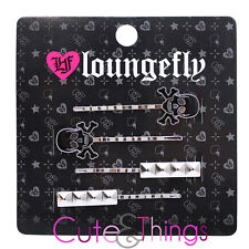 Skull Crossbones with Metal Stud Hair Pin Set by Loungefly