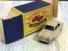 Matchbox Moko Lesney # 30a light brown Ford Prefect MinNMB 4GMW (CD) silver trim