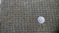 "Wool Fabric OLIVE GREEN,GRAY,YELLOW FLECKS PLAID 24""/60"" Wide"