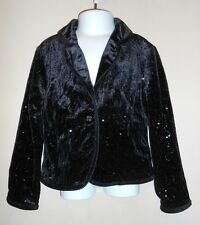 The Childrens Place Girls Velvet & Sequin Lined Dressy Jacket Black XS/4 NWT