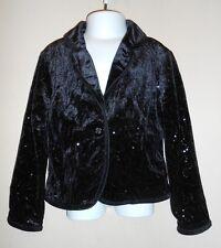 The Childrens Place Girls Velvet & Sequin Lined Dressy Jacket Black XS/4 NWT