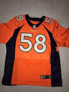 Nike NFL Players On Field Denver Broncos Von Miller Stitched Jersey Men's Sz 44