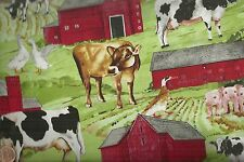 Down on the Farm animals horses cows pigs Exclusively Quilters fabric