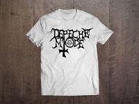 Depeche Mode Logo White Men T-shirt Rock Band Fan Tee Shirt