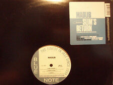 "MADLIB + YESTERDAY'S NEW QUINTET - SLIM'S RETURN / DIMPLES (12"")  2003!!  RARE!!"