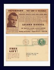 CALIFORNIA SAN FRANCISCO LELORD KORDEL HEALTH SPEAKER 1942 TO CHRISTINE MILLER
