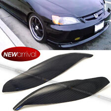For 01-03 Civic Carbon Painted headlight Cover Eyelid Eyebrow Eye Lid Brow