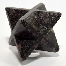 "2.4"" Ruby Spinel in Matrix 8 Point Merkaba Star Natural Crystal Stone - India"