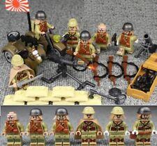 Seconda Guerra Mondiale Soldato Dell'esercito giapponese 6 Mini figura WW2 SECONDA GUERRA MONDIALE (2) Custom Moc MG PISTOLA
