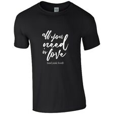 All You Need Is Love Junk Food T-Shirt unisex schwarz S Black
