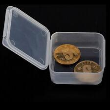 5pcs Small Transparent Plastic Storage Box clear Square Multipurpose display ES