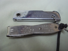2 Vintage Advertising Nail Clippers & Tool