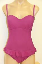 New Profile by Gotex Swimsuit 1 one pc Sz 8 Violet Removable Straps