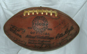 1961 Green Bay Packers Team Signed Football The Duke Bart Starr Ray Nitschke