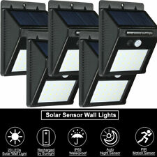 5pcs Solar Powered LED Wall Light PIR Motion Sensor Outdoor Night Light Kit B6B5