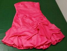 New Without Tags Steppin' Out Womens Medium Pink 100% Polyester Strapless Dress
