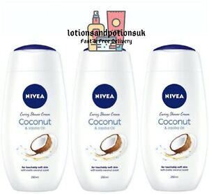 Nivea COCONUT & JOJOBA OIL Shower Cream 250ML - 3 Pack