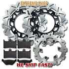 Yamaha Front + Rear Stainless Steel Brake Disc Rotor + Pads TDM 900 (2002-2014)