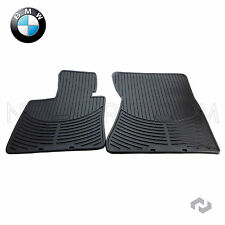 NEW BMW X5 X6 07-14 Front All Weather Rubber Black Floor Mat Set Genuine