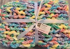 New listing Hand knitted Rainbow baby blanket