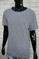 Maglia a Righe Uomo Blu LEVI'S Taglia Size XL Polo Manica Corta Shirt Herrenhemd