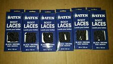 6 Pairs Bates Unisex Shoe Boot Laces 60in Black & Brown