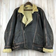 Vintage Original Shearling B3 Biker Aviator Bomber Flight Jacket M / L Oversized