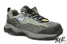New Skechers Canyon - Hobby Steel Toe Hiking Work Men Boots Sz 7.5EW - 76785