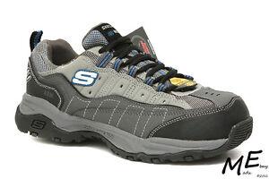 New Skechers Canyon - Hobby Steel Toe Hiking Work Men Boots Sz 8EW - 76785