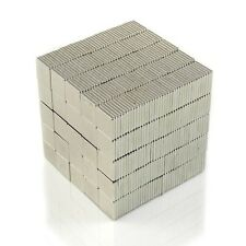 "1000pcs 5/16"" x 5/16"" x 1/32"" Blocks 8x8x1mm Neodymium Magnets Permanent N35"