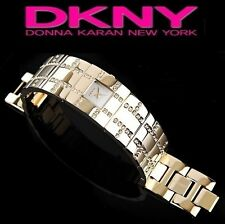 DKNY LADIE'S GOLD CRYSTALS LUXURY TOP BANGLE HOT WATCH NY3666
