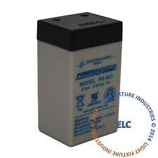 Emergency Light Exit Sign 2pk Sealed Lead Acid Battery 6 Volt 2.3 Ah SLA B6V23A