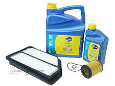 for HONDA CIVIC 2.2 CTDi DIESEL SERVICE KIT OIL & AIR FILTER 5W30 ENGINE OIL 6LT