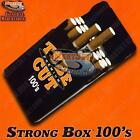 NEW 100mm Black Strong Box Flip Cigarette Case Long 100s Hard Crushproof Plastic