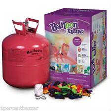 Balloon Time Helium Balloon Kit Helium Tank 50 Balloons Birthyday Party Wedding