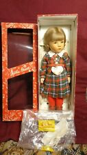 """Kathe Kruse Stoffpuppe 18"""" Doll With Original Tag and Box Germany January 1982"""