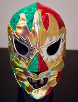 SEMI PRO NEW SOLAR TRICOLOR MEXICAN WRESTLING MASK WWE UNDERGROUND GIFT