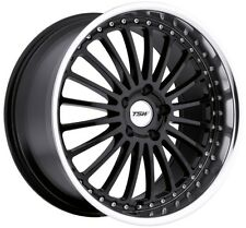 17x8 TSW Silverstone 5x108 +40 Black Rims Fits Ford Focus 2012-2016