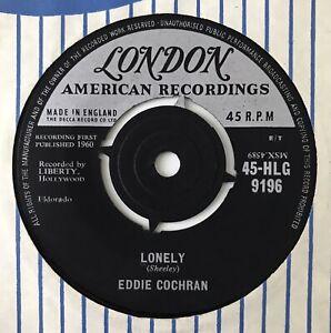 "EDDIE COCHRAN - 1960 - ""LONELY"" - London - HLG9196 - *EX*"
